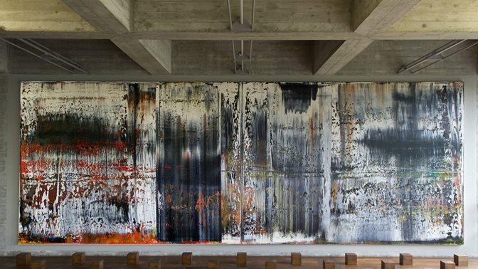 """Gerhard Richters Gemälde """"St.Gallen"""", ursprünglicher Titel """"Illusionen"""", an der Universitaet St.Gallen (HSG)"""